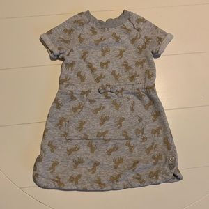 Gymboree 4T grey Horse sweater dress with pocket
